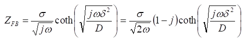 電気化学 測定 有限拡散(FD、finite  diffusion)の理論式
